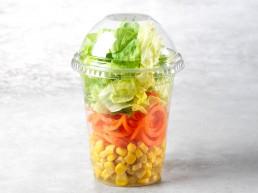 Gartenmix-Salatbecher